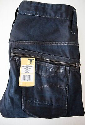 Jeans G star New Riley 3d Tapered Bleu Fonce Homme