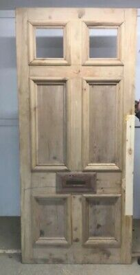 V LARGE GEORGIAN VICTORIAN FRONT DOOR PERIOD OLD RECLAIMED PINE ANTIQUE C1820s