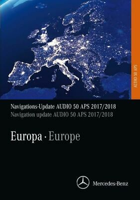 Mercedes Benz Navigations Update APS 50 2017/2018 NTG2 (orange) CD Version