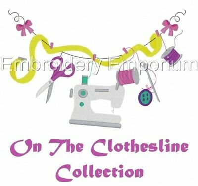 On The Clothesline Collection - Machine Embroidery Designs On Cd Or Usb