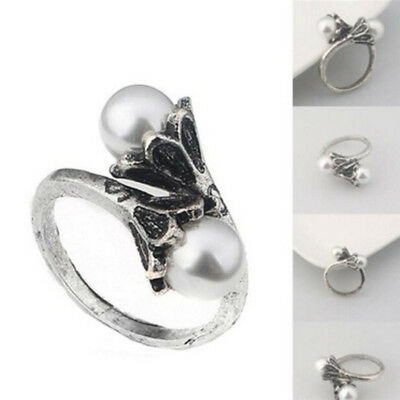 Game of Thrones Daenerys Targaryen Ring Pearl WhiteGold Plated Vintage CospZ0HW