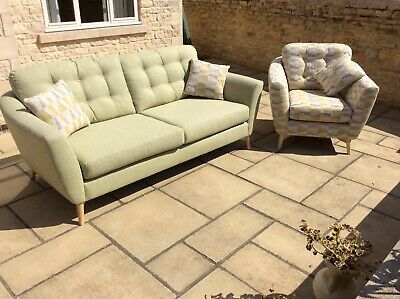 Ercol Gela 2 Piece Suite 3 person sofa and chair