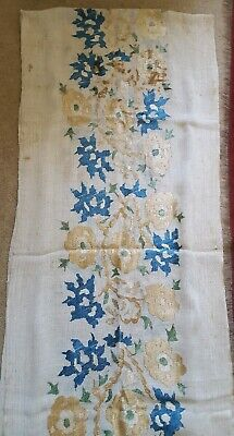 Antique Chinese/Asian Silk Embroidery On Linen Panels