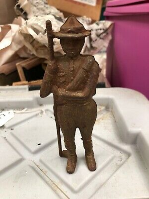 Old Cast Iron AC WILLIAMS BOY SCOUT Soldier Boy Still BANK 1910-1934 ORIGINAL