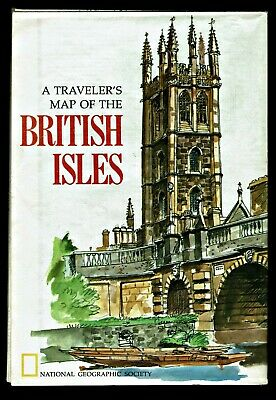 ⫸ 1974-4 British Isles Map Britain Ireland - National Geographic  X #K