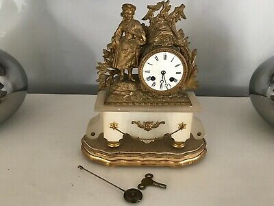 Japy Freres France Around 1870 Quality Ormolu Mantle Clock Requires Attention