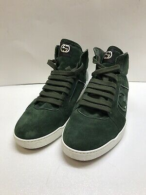 1023d2eecff7 RARE Men's Authentic Gucci Shoes Sneakers Rebound Mid Sz 10 Green Suede  295322
