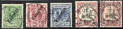 Germany - Cameroun - Early  Issues Opted + Yachts  - Used Nh