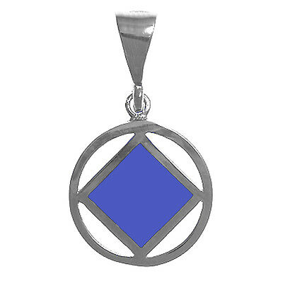 #760-9 Very Small Size,Sterling Silver NA Narcotics Anonymous Symbol Pendant