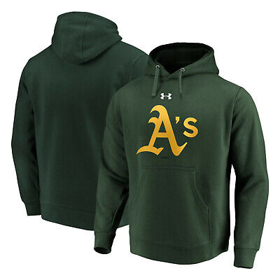 NWT Men Under Armour UA Oakland A/'s Athletics MLB ⚾1//4 Zip Performance Pullover