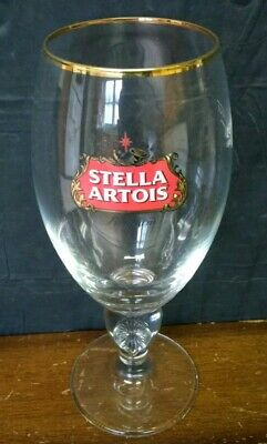 New Stella Artois Chalice 50 CL Beer Glasses Pub Bar Goblet Man Cave Belgium
