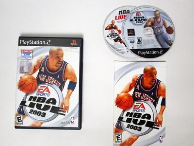 NBA Live 2003 game for Sony Playstation 2 PS2 -Complete