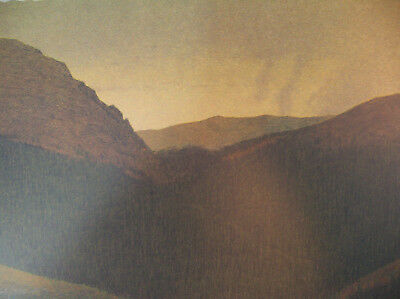 """Russell Chatham Original Signed """"The Continental Divide"""" Tonalist Lithograph Art"""