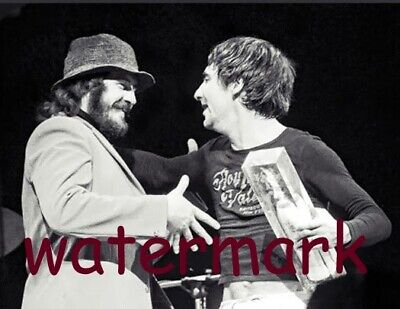 Drumming Icons John Bonham and Keith Moon Hug It Out 1974  PUBLICITY PHOTO