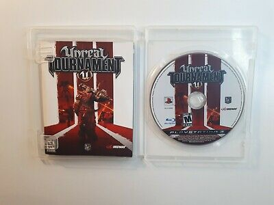 Unreal Tournament Iii Playstation 3 Ps3 Complete In Box W/ Manual Cib Fast Ship!