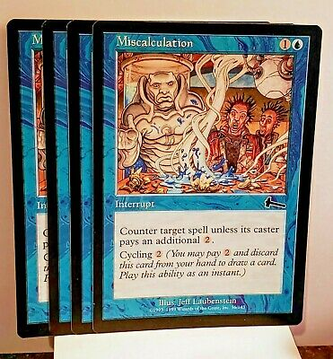 MISCALCULATION Urza/'s Legacy MTG Blue Instant Com