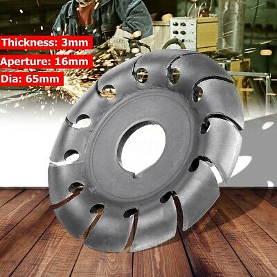 Electric Angle Grinder Shaping Blade Wood Carving Disc Cutting Woodworking Tool