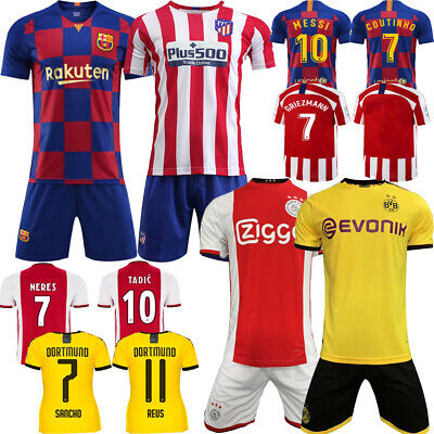 2020 Football Club New Racing Home Kit Kids Soccer Short-Sleeves Strips Outfits