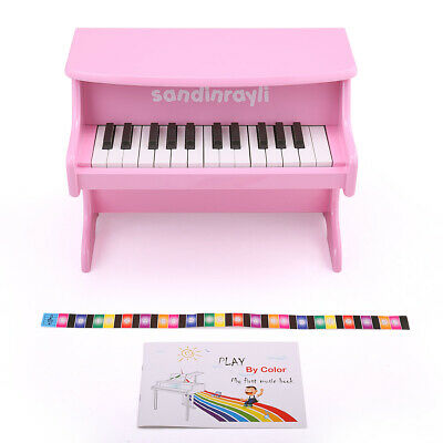 25-Key Kids Toddler Electric Piano Musical Toy w/Book Learn To Play Piano Pink