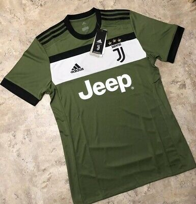 e8ba858f7 Adidas Juventus 3rd Soccer Jersey Olive Green Black Men s Size Small New NWT