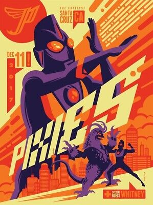 Pixies - 2017 - Santa Cruz - The Catalyst - Tom Whalen - Whitney - Tour Poster