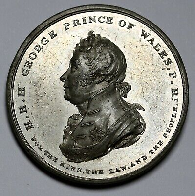 UK Prince of Wales George Appointed Regent 1811 in WM 38mm BHM 709