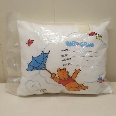 Sears Winnie Pooh Personalized Pillow Birth Certificate Keepsake Sealed 10x13