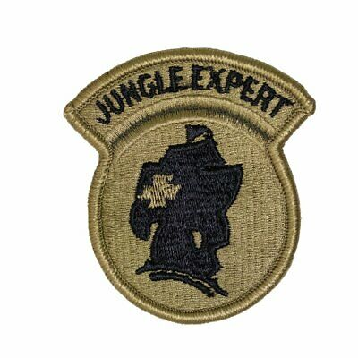 Genuine U.s. Army Patch: Jungle Expert - Embroidered On Ocp - Pair
