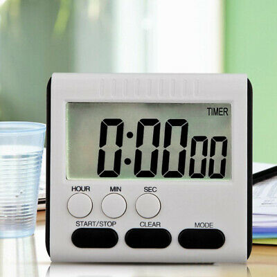 LCD Digital Timer Kitchen Mutifunctional Magnetic Count Down/Up Loud Alarm Clock