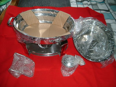 STAINLESS STEEL TRAMONTINA CHAFING DISH NEW AND UNUSED IDEAL Parties