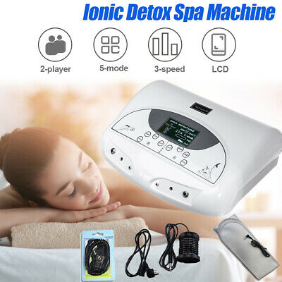 Dual Ion Cell Detox Ionic Foot Bath Spa Cleanse Machine with LCD & Cleanse Belt