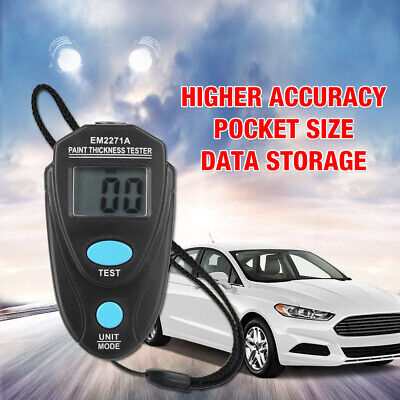 EM2271A Digital LCD Car Coating Thickness Gauge Tester Painting Thickness Meter