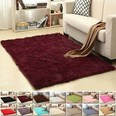Shaggy Rugs Carpet Living Room Bedroom Area Rug Soft Fluffy Large Rug Home Decor