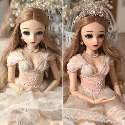 1/3 BJD Doll Beautiful Pretty Ball Jointed Doll For Baby Girl Birthday Xmas Gift