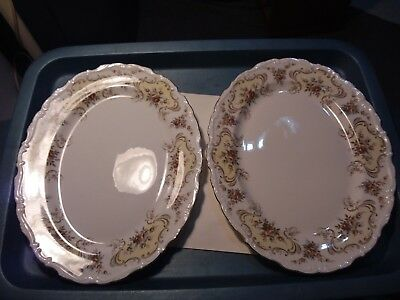 2 Platters - Royal Albert  - September Song - 10 X 12 3/4 Inches