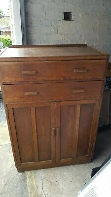 Mid Century solid Oak Tallboy (Collect London E14 or Sidcup)