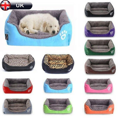Large soft Bed Puppy Cushion House Soft Warm Kennel Mat Blanket Washable Kitten