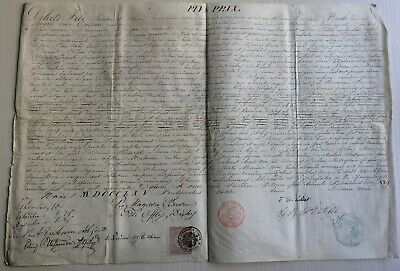 LAC VERY RARE PAPAL BULLA Parchment Vellum 1865 AN XIX in name of Pope PIUS IX