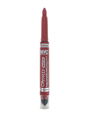 NYC Cityproof Matte Long Lasting Lip Color 301 City Cherry