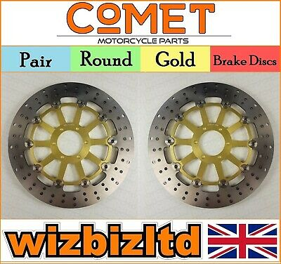 COMET Pair of Gold Round Front Brake Discs Ducati 907 IE 90-91 R930GD2
