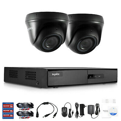 SANNCE 5in1 4CH Security System 1080P HDMI DVR 1500TVL Camera Motion Detection