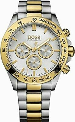 Brand New Hugo Boss Mens Chrono Watch Hb1512960 Two Tone Gold And Silver Uk