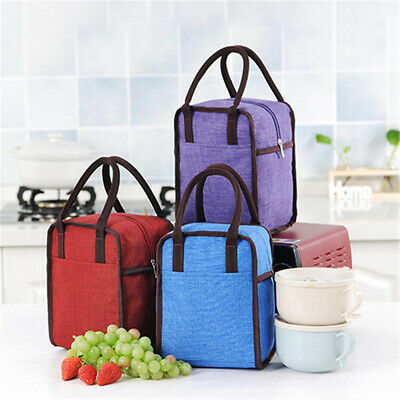 Insulated Lunch Bag Large Size Waterproof Thermos Cooler Food Lunch Handbag 6A