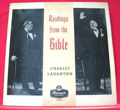 Charles Laughton Readings From The Bible LP UK ORIG 1960 Brunswick Noah+ VINYL