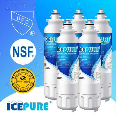 5 Pack Icepure LG LT800P Kenmore 9490 ADQ73613402 Comparable Water Filter