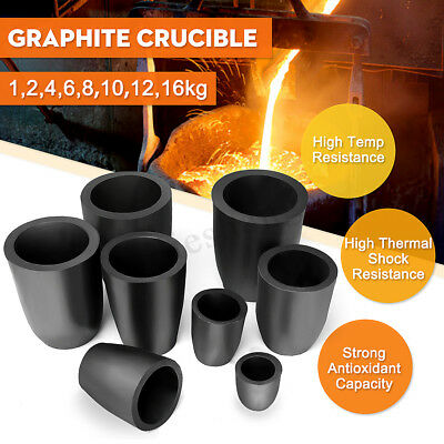 New Furnace Casting Foundry Graphite Crucible Melting Tool 1/2/4/6/8/10/12/16 Kg