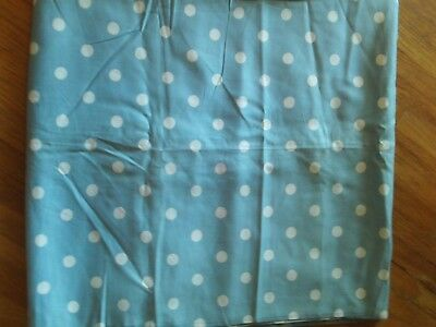 """Sky blue and white polka dot woven cotton fabric by Weilwood  Ind. 44"""" w 4.5 yds"""