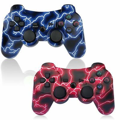 2 Pack Wireless PS3 Controller Double Shock Gaming Play For Sony Playstation 3