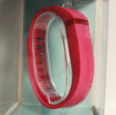 PRE OWNED Fitbit Flex Wireless Activity Tracker Pink Small and Large Wristband.