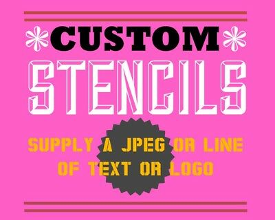 custom picture or Logo stencil A4 - personalised